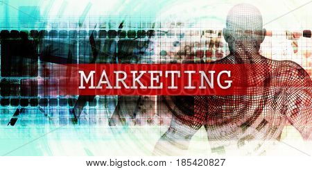 Marketing Sector with Industrial Tech Concept Art