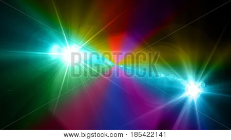 Camera Flash Flare Color Background
