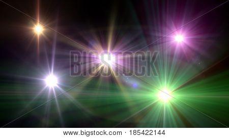 Camera Flash Flare In Dark