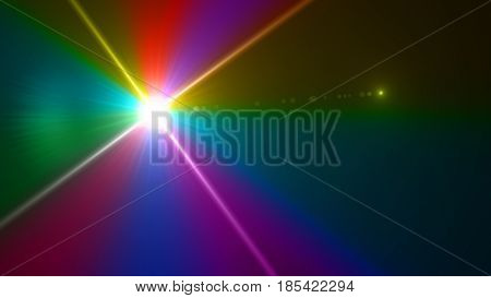 Color Sun Burst Background