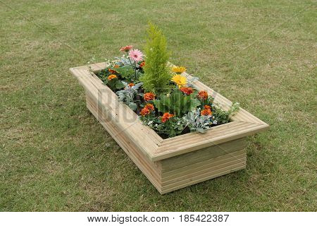A Beautiful Free Standing Wooden Garden Planter.