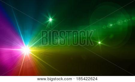Rainbow Color Of Camera Flash