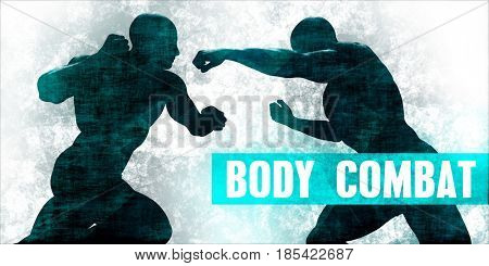 Body combat Martial Arts Self Defence Training Concept 3D Illustration Render