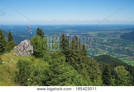 View From Brauneck Mountain To Isar Valley