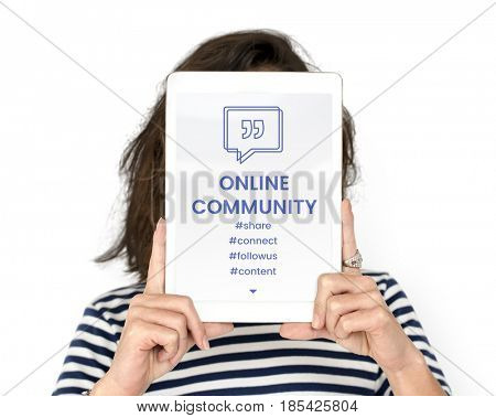 Online Community Speech Bubble with Quotation Mark