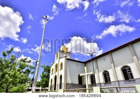 Small Roman Catholic church, located in the city of Neopolis, state of Sergipe. Brazilian Northeast.