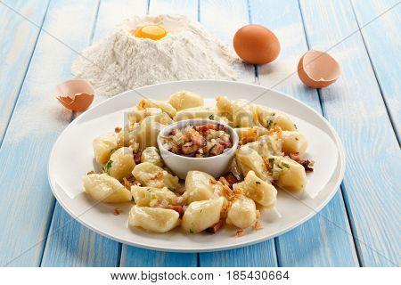 Potato noodles - dumplings