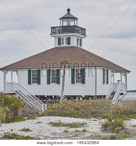 Port Boca Grande Lighthouse Museum on Gasparilla Island Florida