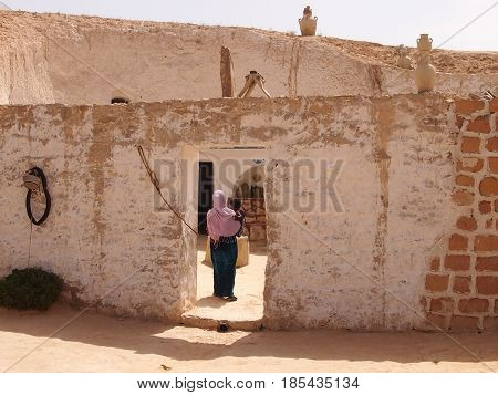 The ancient dwelling of berbers in mountains of North Africa