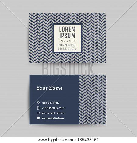 Business card art deco design template, art deco pattern background