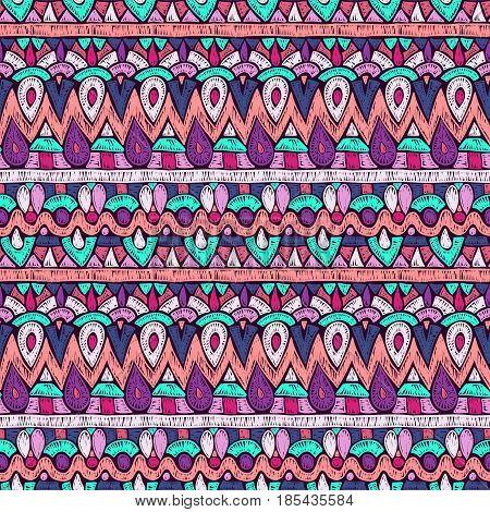 Fabric Pattern Tribal Ornament Retro Hippie Style Texture 2