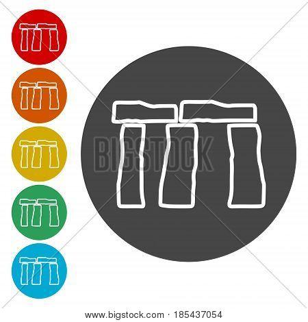Stonehenge Icon, simple vector icon on white background