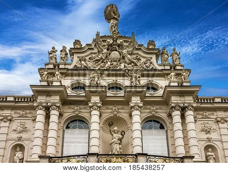 Linderhof Palace building architecture, Germany, Bavaria, Munich