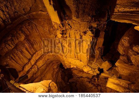 Mammoth Cave National Park interior, Kentucky, USA. This national park is also UNESCO World Heritage Site since 1981.