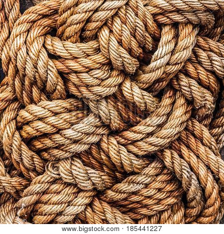 ropes jute tackle background natural industrial pattern