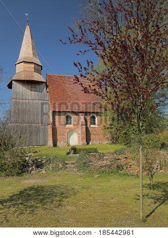 Brick Romanesque Church In Neu Boltenhagen, Germany