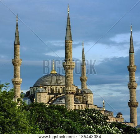 Blue mosque building architectural view, Istanbul, Turkey