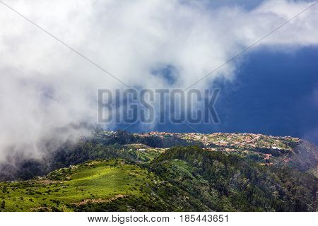 Mountain scenery landscape, Madeira island view, Portugal
