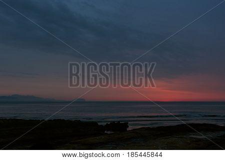 Mediterranean Sea at sunrise. Costa Blanca. Alicante. Spain