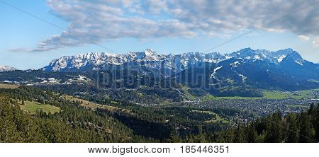 Wetterstein Mountain Mass With Zugspitze