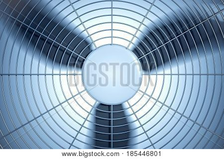 3D rendered illustration of HVAC ventilation system.