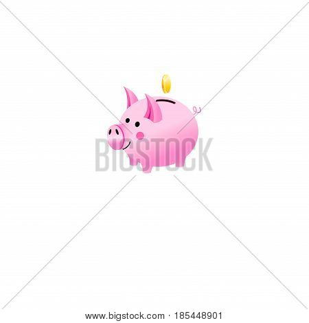 Vector icon of a piggy piggy bank isolated on a white background