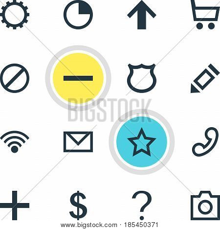 Vector Illustration Of 16 Member Icons. Editable Pack Of Conservation, Asterisk, Top And Other Elements.