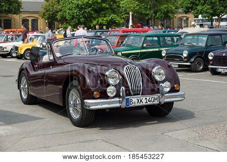 Berlin - May 11: A Sports Car Jaguar Xk140 Roadster, 26Th Oldtimer-tage Berlin-brandenburg, May 11,
