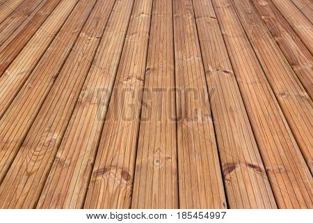 Natural Rustic Wood Texture. Solid Wooden Background. Hardwood Surface With Perspective. Horizontal Web Banner Copy Space