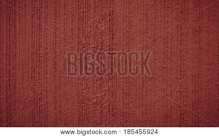 Abstract Grunge Decorative Terracotta Painted Stucco Wall Texture. Handmade Rough Background With Copy Space