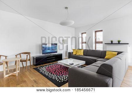 Sofa In Spacious Living Room