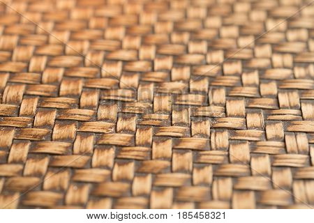 Bamboo weave pattern select focus in thailand
