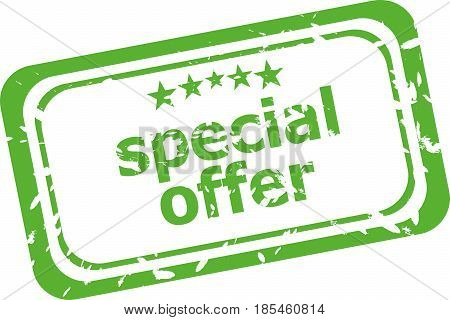 Special Offer Grunge Rubber Stamp Isolated On White Background