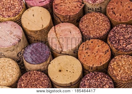 closeup of wine stopper cork