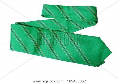 Object Necktie Light Green color on white background.