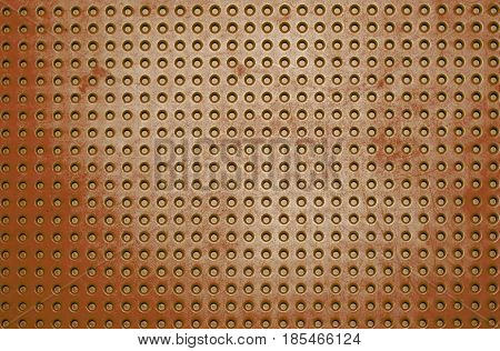 Background Plastic striped button orange color for textrue.