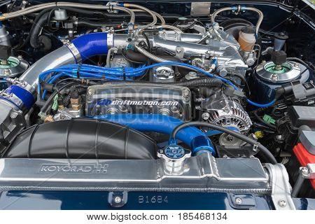 Toyota Supra Engine On Display