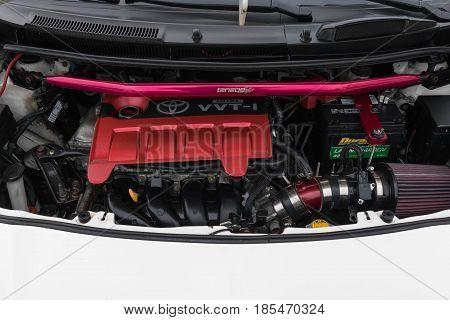 Toyota Yaris Engine On Display