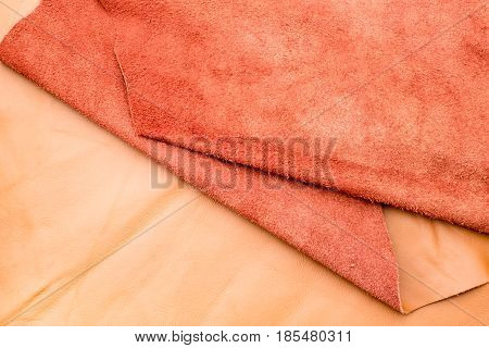 Close Up Fold Tan Leather Texture Background,fabrics Division