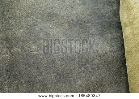 Close Up Fold Grey Leather Texture Background,fabrics Division