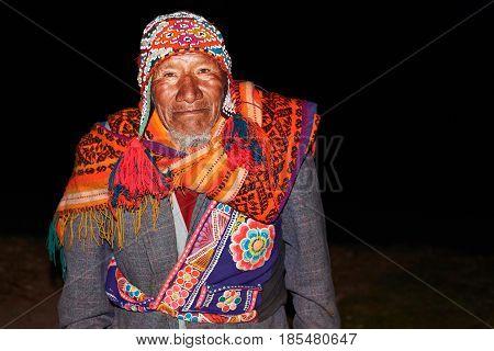 Old Native Peruvian Man