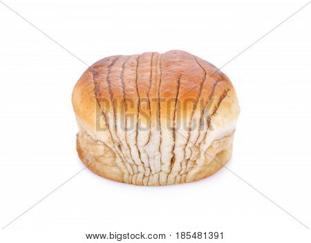 brown sugar bread on a white background