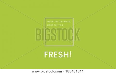 Organic Fresh Food Green Banner Graphic
