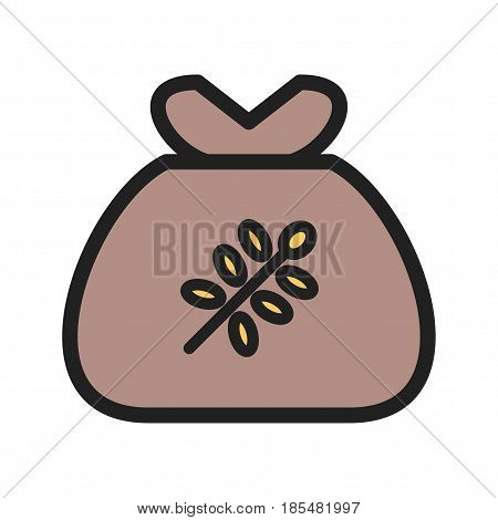 Bag, wheat, community icon vector image. Can also be used for community. Suitable for mobile apps, web apps and print media.