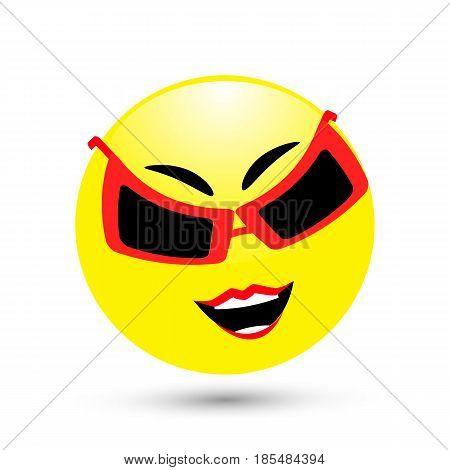 Smile Icon. Illustration For Your Design.