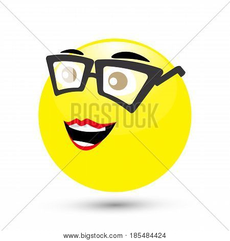 SMILE ICONS on a white background. spectacled. And a botanist. ILLUSTRATION FOR YOUR DESIGN.
