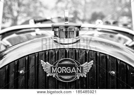 Berlin - May 11: Car Emblem Morgan, F-series Three-wheelers (black And White), 26Th Oldtimer-tage Be