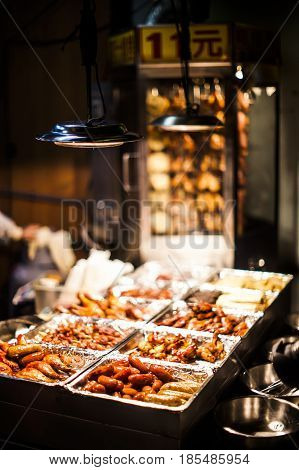 Sausages At A Street Food Stall