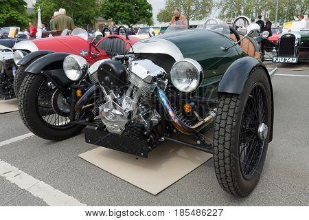 Berlin - May 11: Car Morgan, V-twin Three-wheelers, 26Th Oldtimer-tage Berlin-brandenburg, May 11, 2