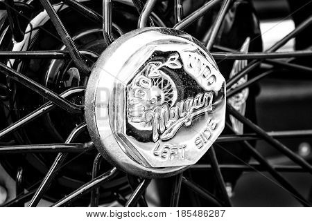 Berlin - May 11: Detail Of The Wheels Of The Car Morgan Super Sport, V-twin Three-wheelers (black An